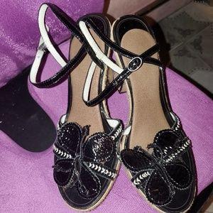 Biviel Butterfly Wedge Sandal 9.5